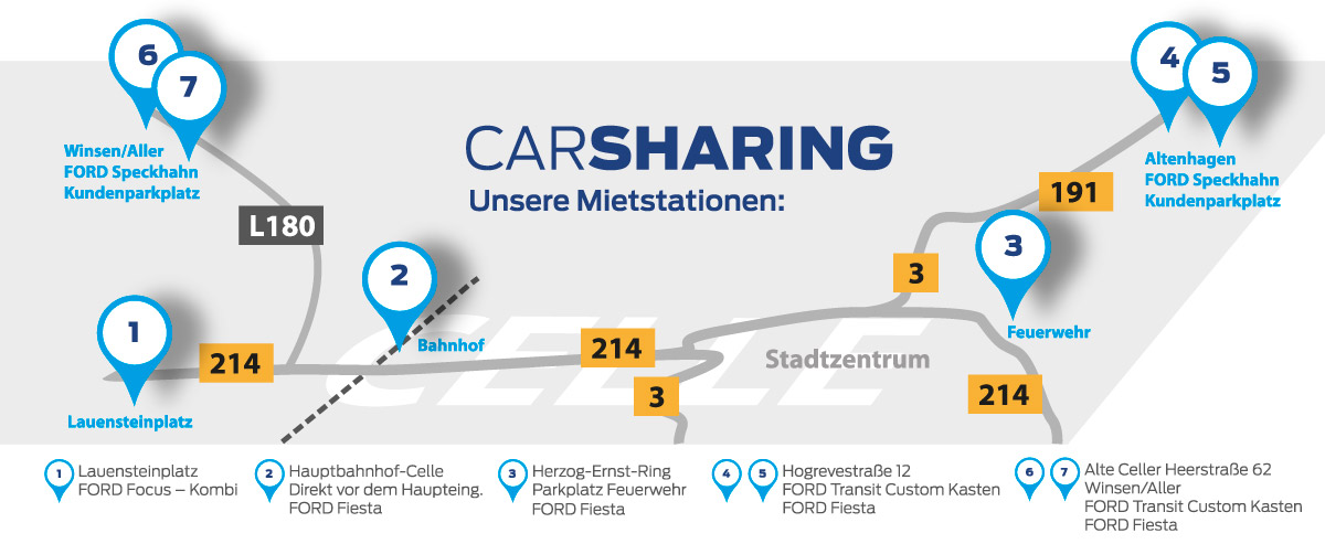Ford CarSharing Map Celle